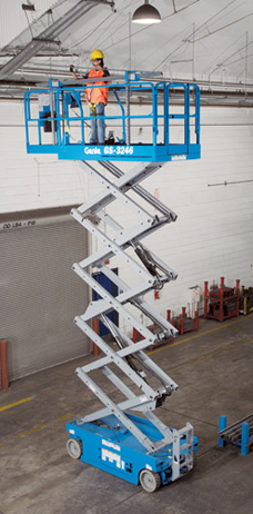 Genie GS2646 scissor lift hire Surrey, Kent, Sussex, London
