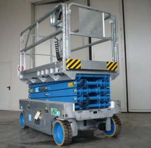 Zinc coated Airo X10 - scissor lifts available from AHS Ltd, Sussex