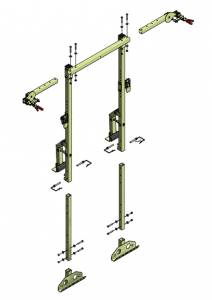 deckRailmulti comes as a board carrier material handling attachment for mewps