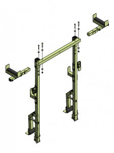 deckRailmulti comes as a pipe rack material handling attachment for mewps